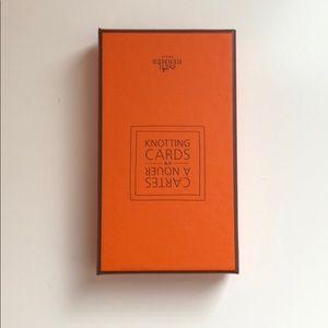 NWOT Hermès Scarf Knotting cards